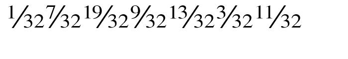 Seri Fractions Diagonal Plain Font UPPERCASE