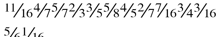 Seri Fractions Diagonal Plain Font LOWERCASE