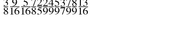 Seri Fractions Vertical Plain Font LOWERCASE