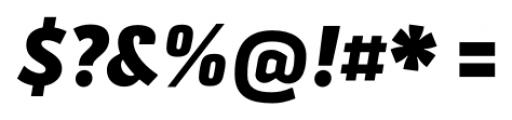 Secca Black Italic Font OTHER CHARS