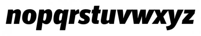 Secca Black Italic Font LOWERCASE