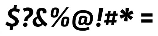 Secca Bold Italic Font OTHER CHARS
