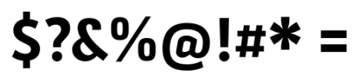 Secca Bold Font OTHER CHARS