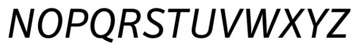 Secca Book Italic Font UPPERCASE