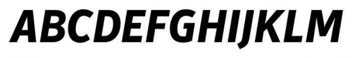 Secca ExtraBold Italic Font UPPERCASE