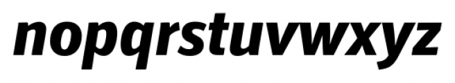 Secca ExtraBold Italic Font LOWERCASE
