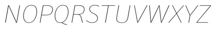 Secca Hairline 15 Italic Font UPPERCASE