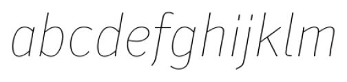 Secca Hairline 15 Italic Font LOWERCASE