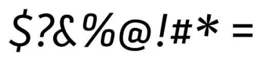 Secca Italic Font OTHER CHARS