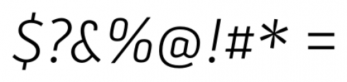 Secca Light Italic Font OTHER CHARS