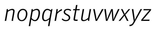 Secca Light Italic Font LOWERCASE