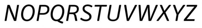 Secca Soft Italic Font UPPERCASE