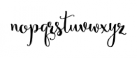 Secret Garden Regular Font LOWERCASE