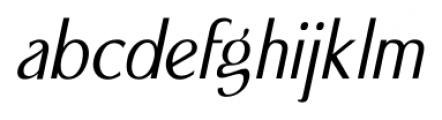 Seminar SRF Oblique  Font LOWERCASE