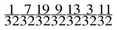 SeriFractions Vertical Font UPPERCASE