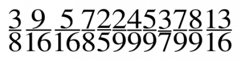 SeriFractions Vertical Font LOWERCASE