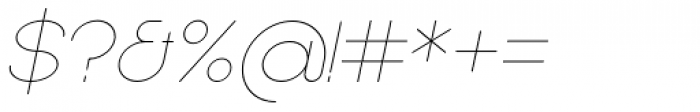 Sean Henrich ATF UltraLight Italic Font OTHER CHARS
