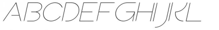 Sean Henrich ATF UltraLight Italic Font UPPERCASE