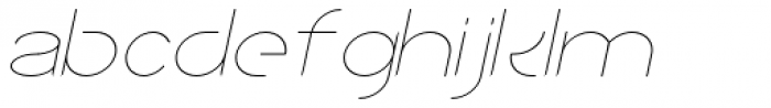 Sean Henrich ATF UltraLight Italic Font LOWERCASE