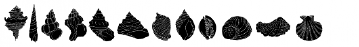 Seashells Font LOWERCASE