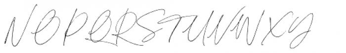 Sebastian Bobby Regular Slanted Font UPPERCASE