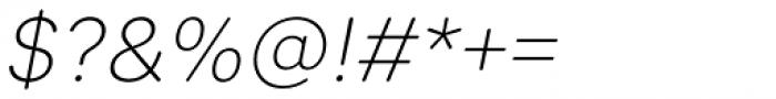 Sebino Soft Extra Light Italic Font OTHER CHARS