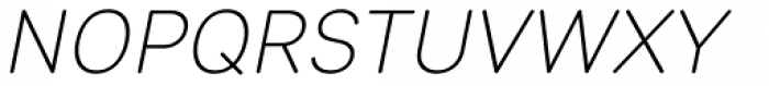 Sebino Soft Extra Light Italic Font UPPERCASE