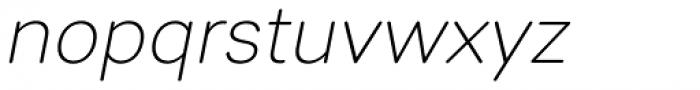 Sebino Soft Extra Light Italic Font LOWERCASE