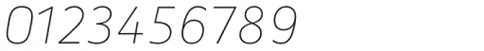 Secca Hairline 25 Italic Font OTHER CHARS