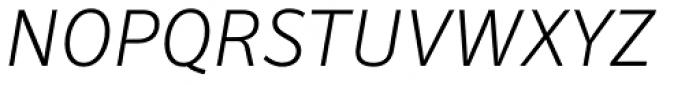 Secca Light Italic Font UPPERCASE