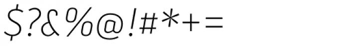 Secca Std Thin Italic Font OTHER CHARS