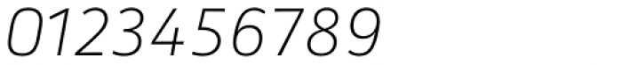Secca Thin Italic Font OTHER CHARS