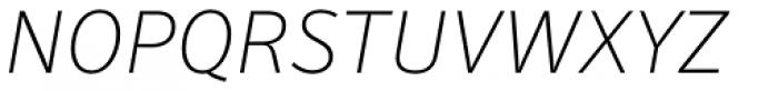Secca Thin Italic Font UPPERCASE