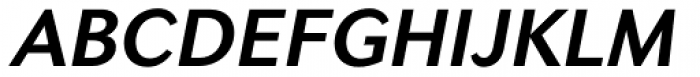 Seconda Bold Italic Font UPPERCASE