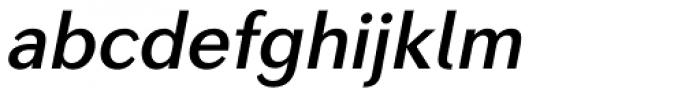 Seconda Demi Italic Font LOWERCASE