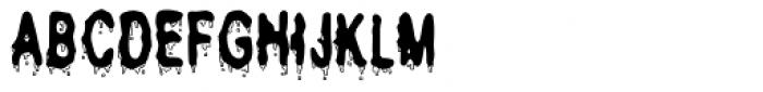 Secret Handshake Melted Font UPPERCASE