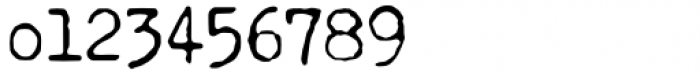 Secretary Typewriter Jumpy Font OTHER CHARS