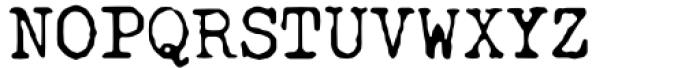 Secretary Typewriter Jumpy Font UPPERCASE