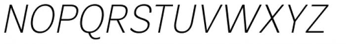 Segaon Extra Light Italic Font UPPERCASE