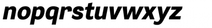 Segaon Heavy Italic Font LOWERCASE