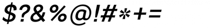 Segaon Medium Italic Font OTHER CHARS