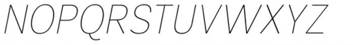 Segaon Soft Thin Italic Font UPPERCASE