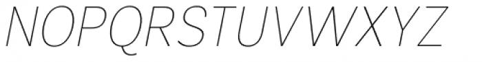 Segaon Thin Italic Font UPPERCASE