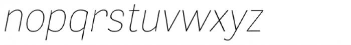 Segaon Thin Italic Font LOWERCASE