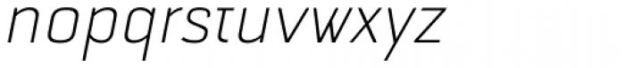 Selektor Light Italic Font LOWERCASE