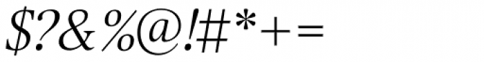 Selina Light Italic Font OTHER CHARS