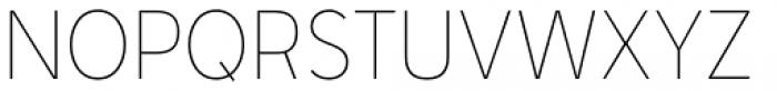 Senkron Thin Font UPPERCASE
