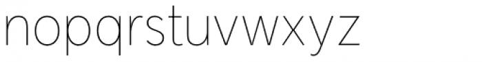 Senkron Thin Font LOWERCASE