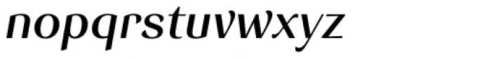 Senlot Ext Demi Italic Font LOWERCASE