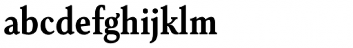Senlot Serif Condensed Bold Font LOWERCASE